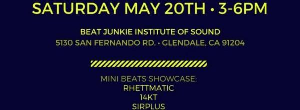 RHETT GOT BEATS Release Party@Beat Junkie Institute Of Sound, LA